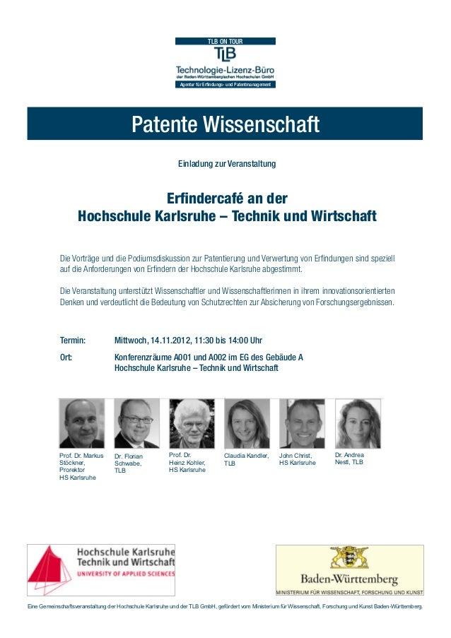 TLB ON TOUR                                                            Agentur für Erfindungs- und Patentmanagement       ...