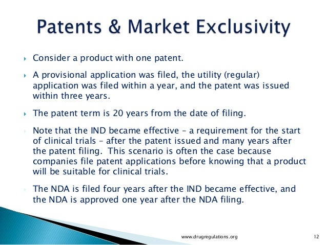    Consider a product with one patent.   A provisional application was filed, the utility (regular)    application was f...
