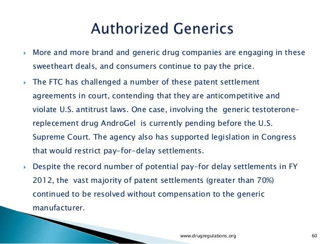    More and more brand and generic drug companies are engaging in these    sweetheart deals, and consumers continue to pa...