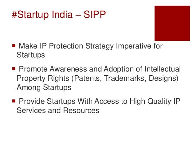 Startup Intellectual Property Protection India