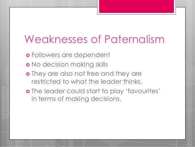 Paternalism (Type of Leadership)