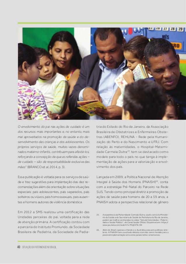 Paternidade Relatório Da Situação Do Brasil Promundo