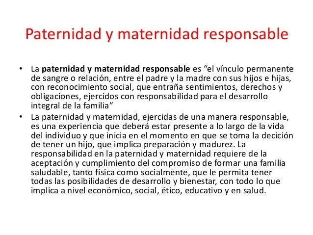 Paternidad y maternidad responsable for Paternidad responsable