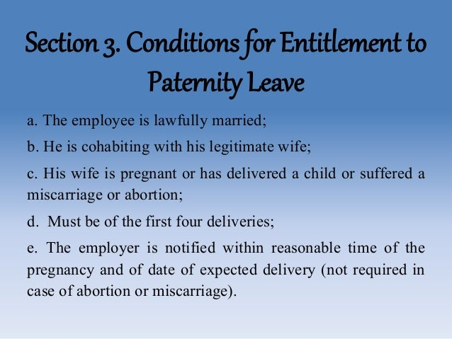 paternity leave Paternity leave definition is - time off from a job given to a father after a child is born time off from a job given to a father after a child is born see the full definition.