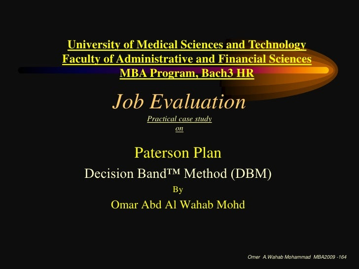 University of Medical Sciences and Technology<br />Faculty of Administrative and Financial Sciences  <br />MBA Program, Ba...