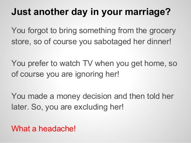 what women need in a marriage