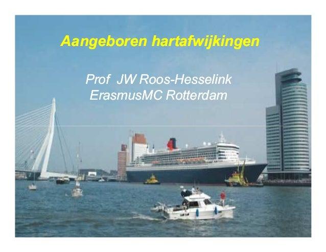 Prof JWProf JW RoosRoos--HesselinkHesselink ErasmusMCErasmusMC RotterdamRotterdam Aangeboren hartafwijkingenAangeboren har...