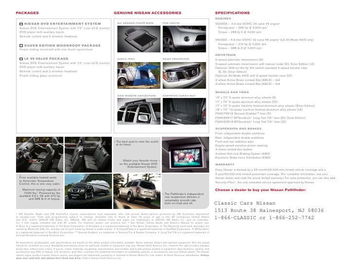 2012 Nissan Pathfinder Brochure