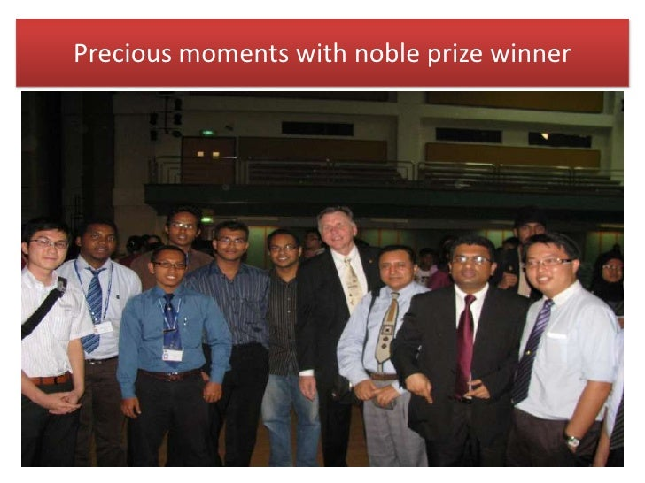 Precious moments with noble prize winner<br />