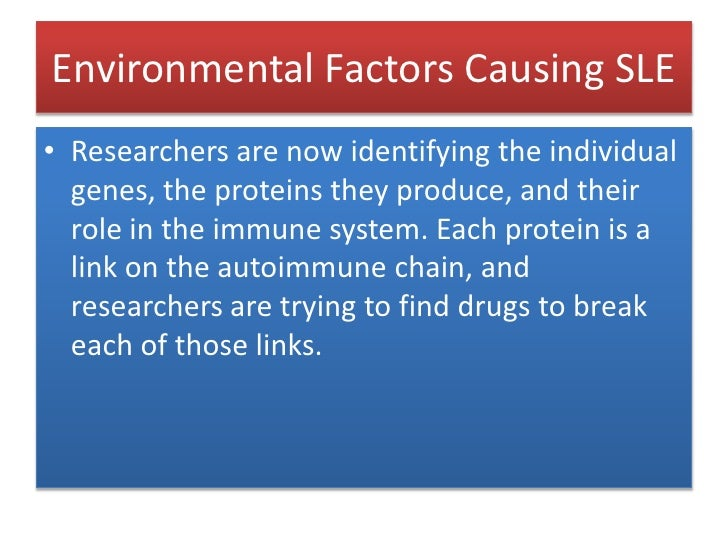 Environmental Factors Causing SLE<br />Researchers are now identifying the individual  genes, the proteins they produce, a...
