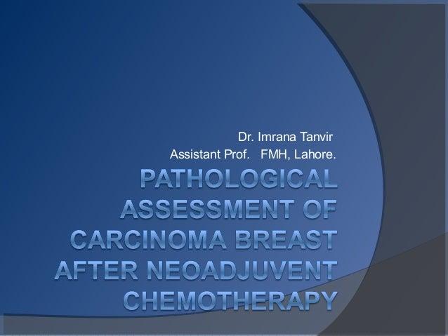 Dr. Imrana Tanvir Assistant Prof. FMH, Lahore.