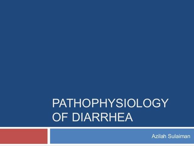 PATHOPHYSIOLOGY OF DIARRHEA Azilah Sulaiman