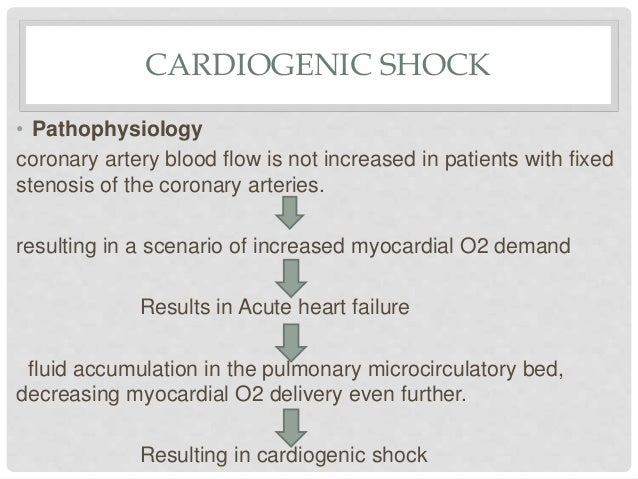 cardiogenic shock due to myocardial