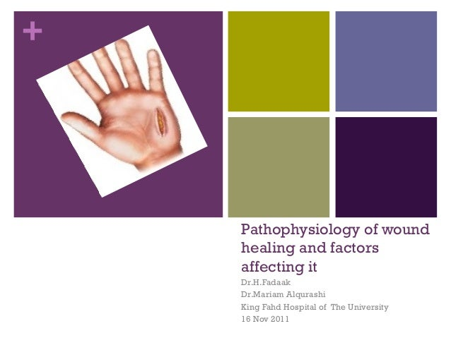 +Pathophysiology of woundhealing and factorsaffecting itDr.H.FadaakDr.Mariam AlqurashiKing Fahd Hospital of The University...