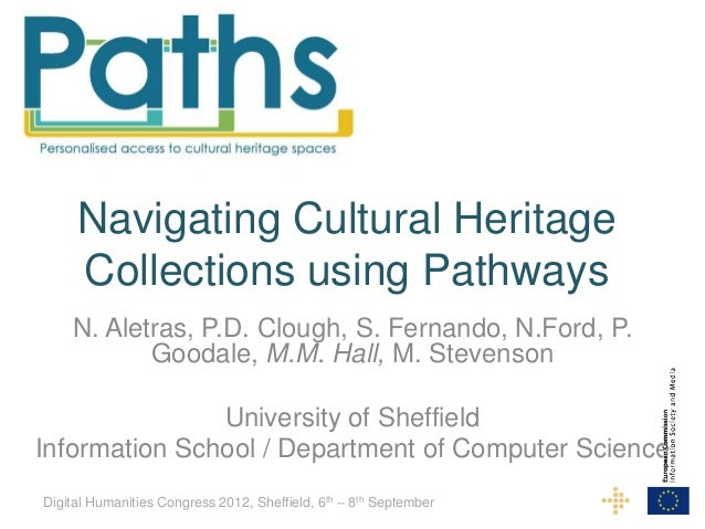 Navigating Cultural Heritage     Collections using Pathways    N. Aletras, P.D. Clough, S. Fernando, N.Ford, P.           ...
