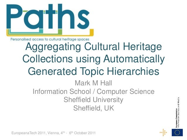 Aggregating Cultural Heritage      Collections using Automatically       Generated Topic Hierarchies                      ...