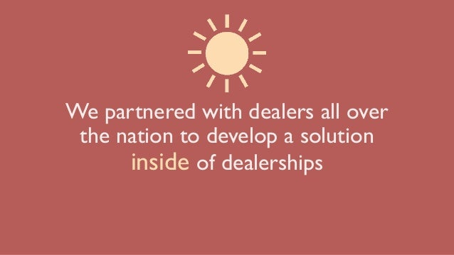 We partnered with dealers all over the nation to develop a solution inside of dealerships