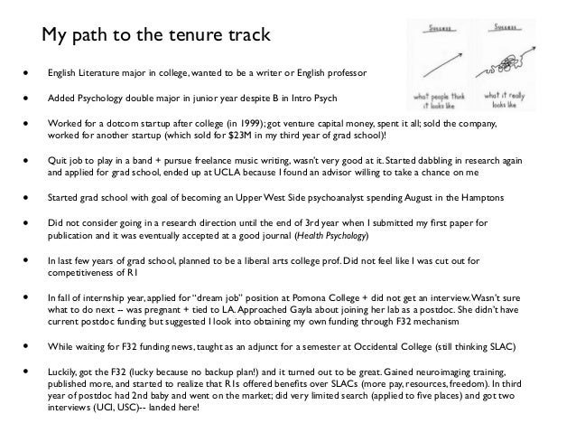 Path to tenure track