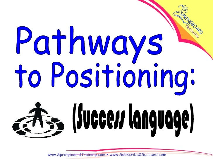 (Success Language) to Positioning: Pathways