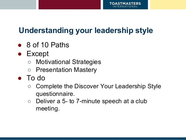 Toastmasters Pathways VSS for BCMs 6