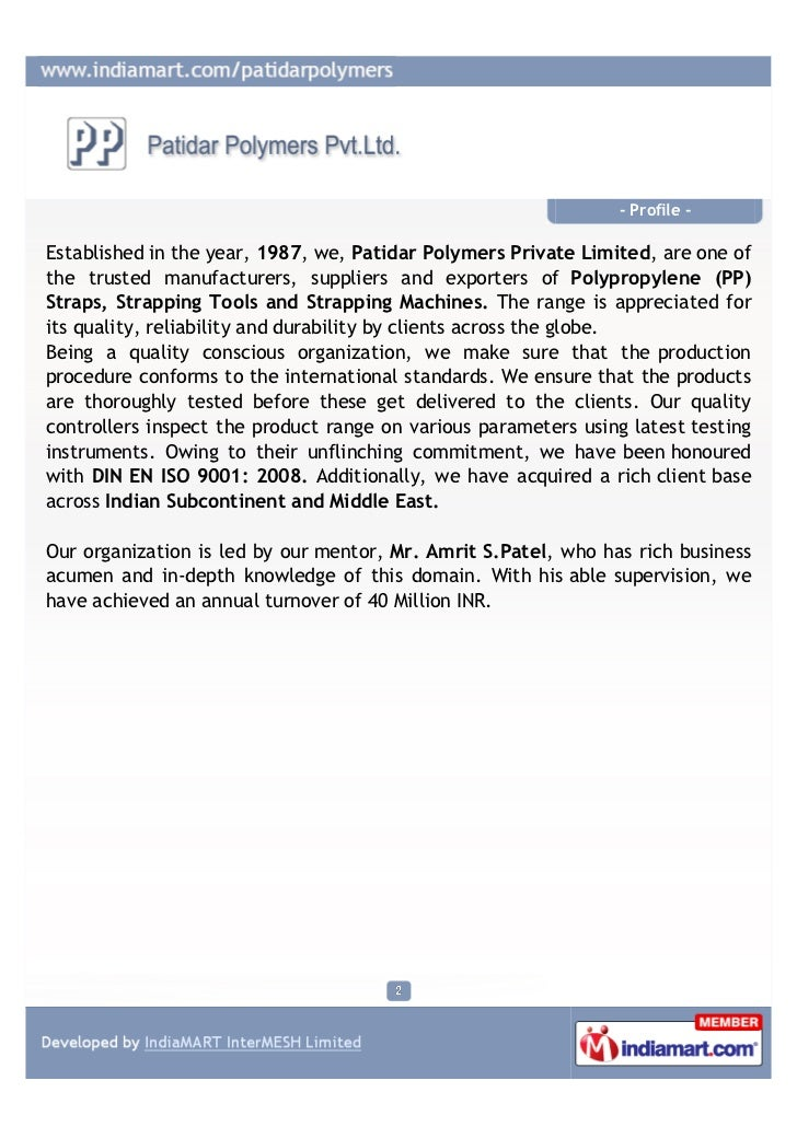 Patidar Polymers Private Limited, Hyderabad, Strapping Tools