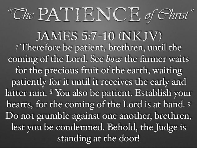 """The Patience of Christ"""""""