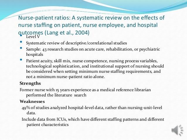 the impact of nurse staffing on patient outcomes essay The history of the nurse staffing nursing essay  and the economic impact of nurses on patient care (2010)  between nurse staffing and patient outcomes has met .