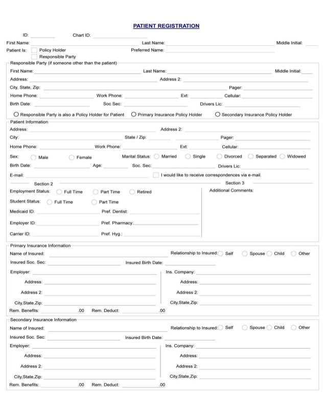 Medical History Form. Bikram Singh Dmd Medical History Patient ...