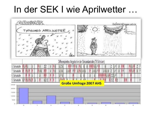 In der SEK I wie Aprilwetter … Große Umfrage 2007 AHS