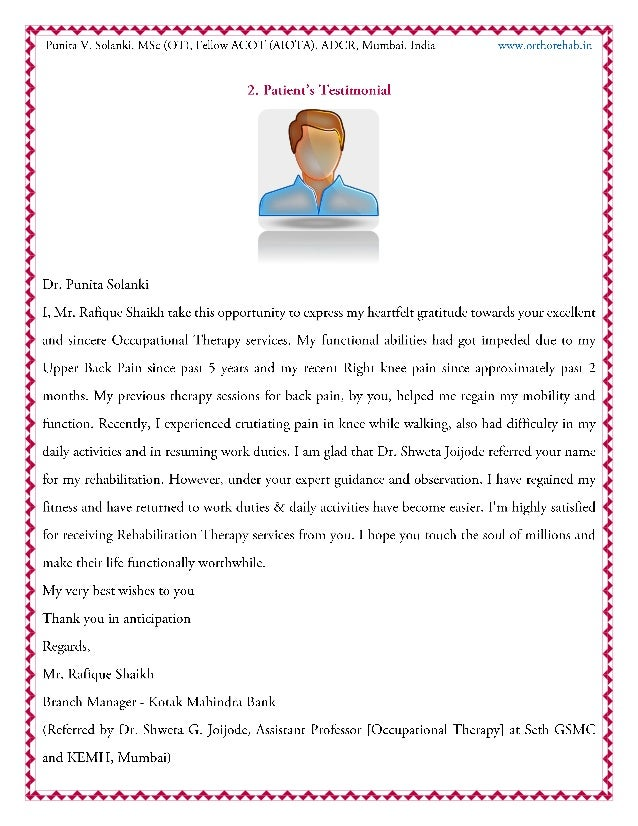 Patient and Professional's Testimonials