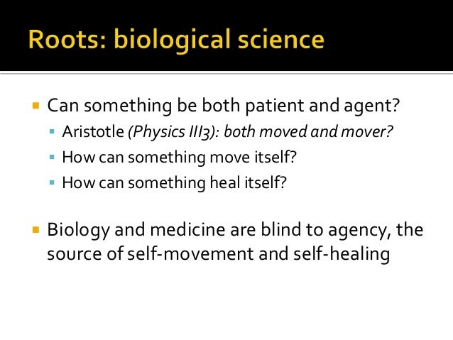  Can something be both patient and agent?  Aristotle (Physics III3): both moved and mover?  How can something move itse...