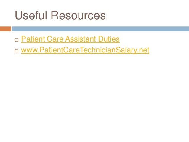 patient care assistant duties