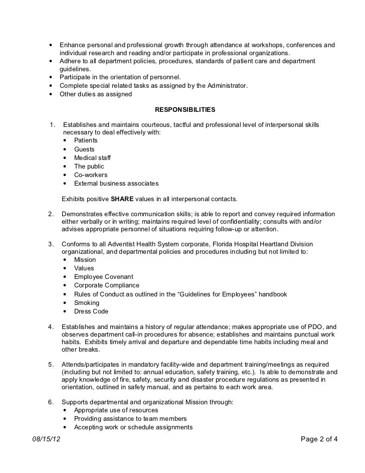 Patient Care Coordinator Job Description