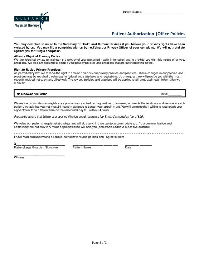 patient-consent-form-alliance-physical-therapy-3-638 Occupational Health Medical Consent Form on for children examples, filled out, generic minor,