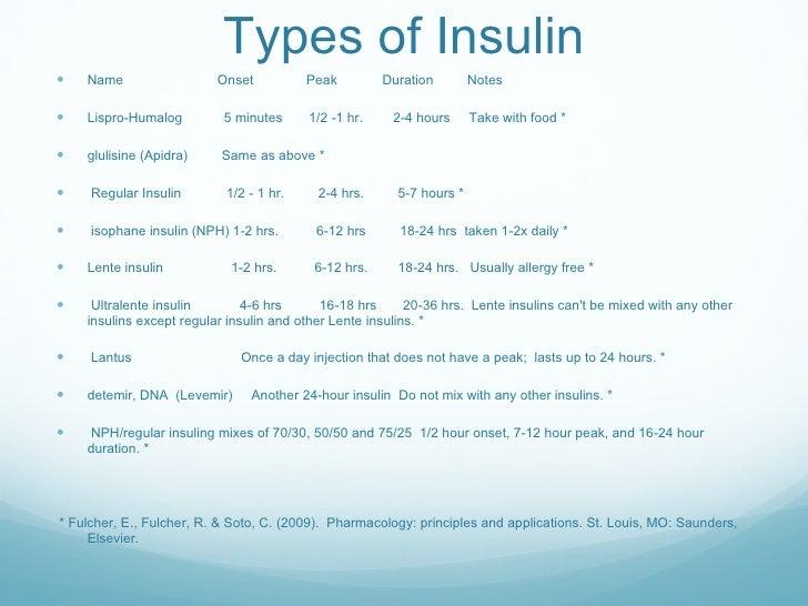 Patient teaching insulin