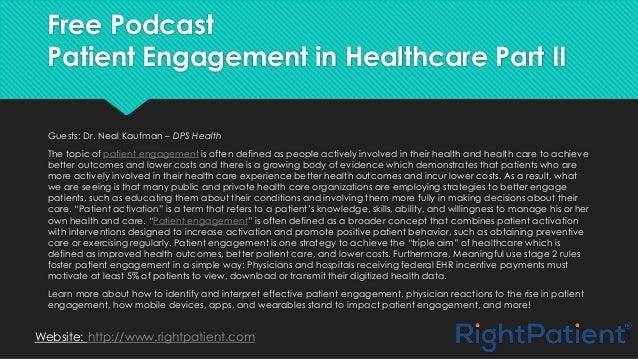 Patient engagement in healthcare part ii Slide 2