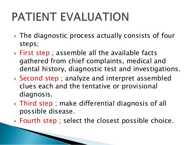 Patient evaluation,diagnosis and treatment planing in conservative