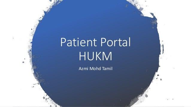 Patient Portal HUKM Azmi Mohd Tamil