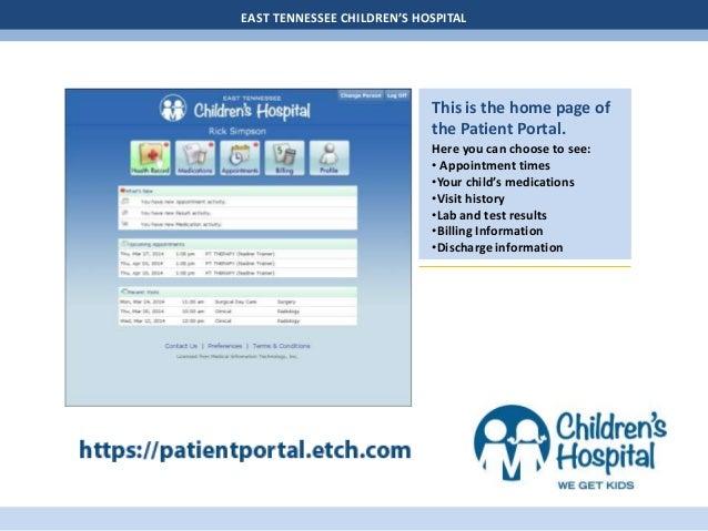 Patient Portal User Guide - Children's Hospital Slide 2