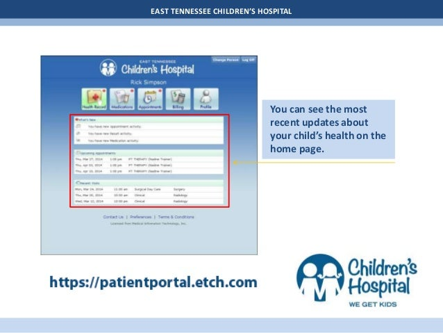 Patient Portal User Guide - Children's Hospital Slide 3