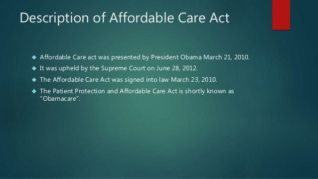 patient protection and affordable care act of 2010 essay Patient protection and affordable care act health, medicine, nursing essay.