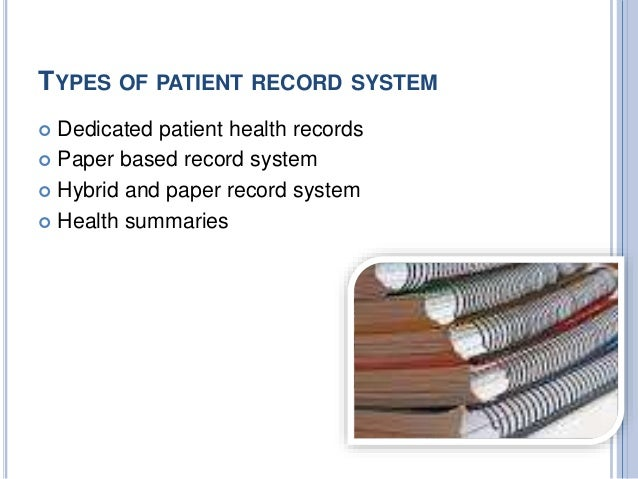 patient recording system essay I have found that the medical record content in a hospice program contains an extensive amount of identifying information in regards to the patient and their primary caregiver(s.
