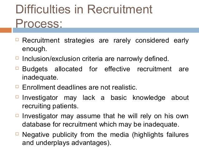 Patient recruitment – Recruitment Strategy