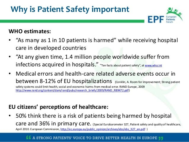 Patients At The Centre Of Patient Safety By Epf