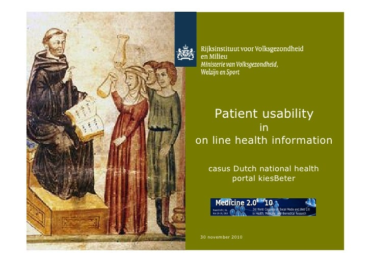 Patient usability                 in    on line health information       casus Dutch national health             portal ki...