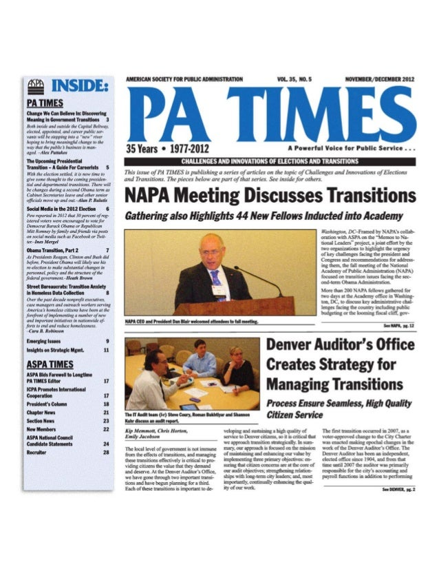 PA Times December 2012 Ines Mergel: Social media and the 2012 election
