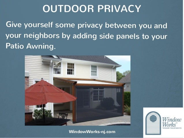 patio awnings by window works a functional and beautiful extension o