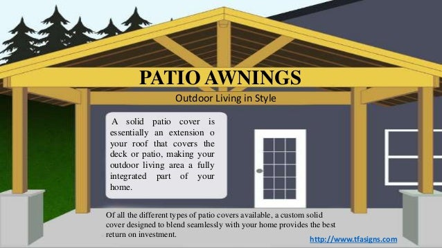 A Solid Patio Cover Is Essentially An Extension O Your Roof That Covers The  Deck Or ...