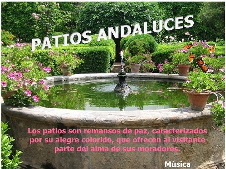 Los patios son remansos de paz, caracterizados por su alegre colorido, que ofrecen al visitante parte del alma de sus mora...