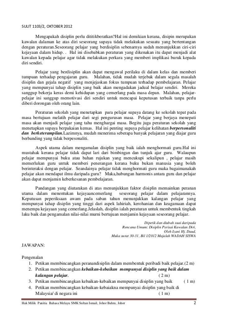 Contoh Soalan Rumusan Bahasa Melayu Pt3 - Soalan c